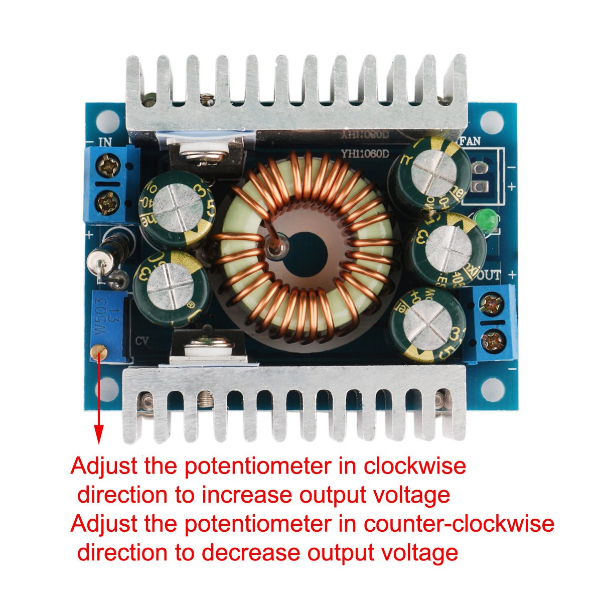 Drok Dc Car Power Supply Voltage Regulator Buck Converter 8a 100w Potentiometer Pc Cp200 Electronics Laboratory I Simple Circuits 12a Max 5 40v To 12 36v Step Down Volt Convert Module Tools Home