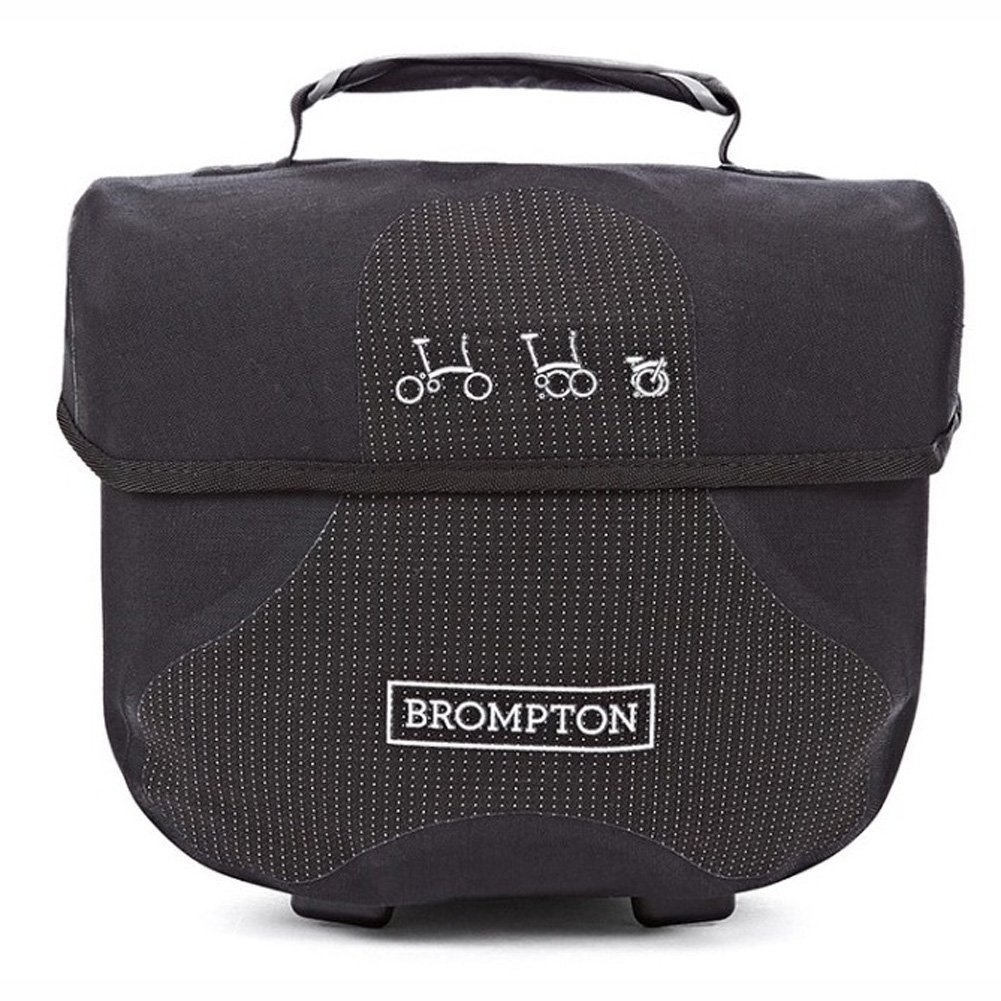BROMPTON Mini O Bag Luggage Travel Bags for Bicycle, Storage Case Black Reflective