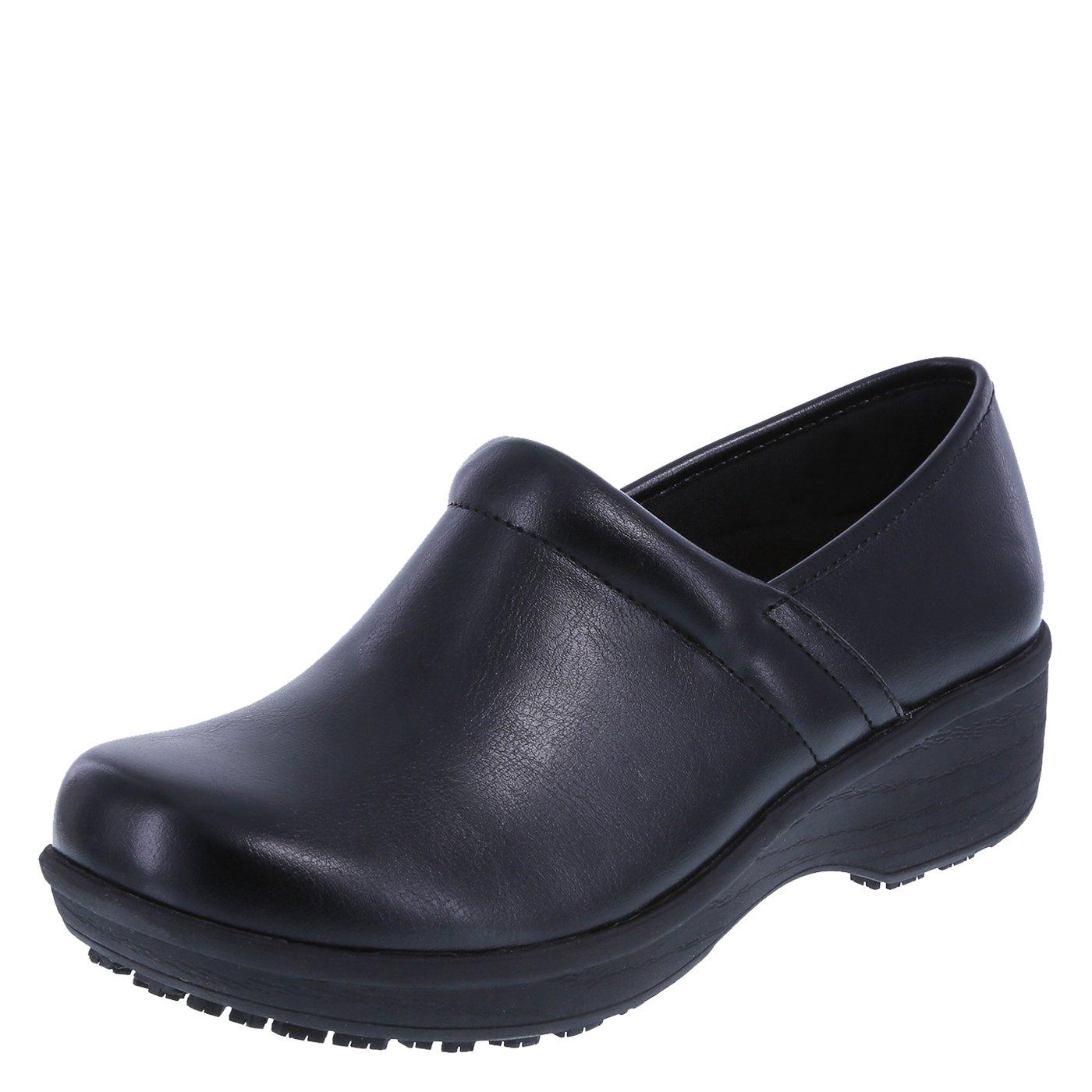safeTstep Slip Resistant Women's Black Women's Gretchen Clog 6 Wide