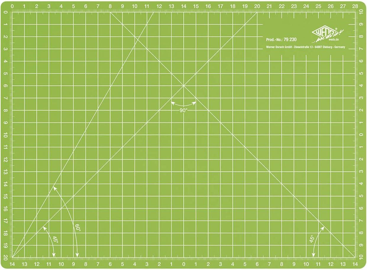 con superficie auto-riparante per bricolage sartoria 45 x 30 cm Big-Sam Tappetino da taglio formato A3