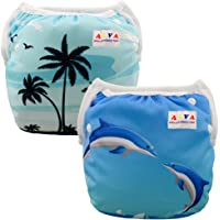 ALVABABY Swimming Diapers 2pcs Pack One Size Reuseable Washable For DYK0708CA