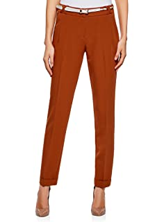7d16d95f7 oodji Collection Femme Pantalon en Coton Stretch: Amazon.fr ...