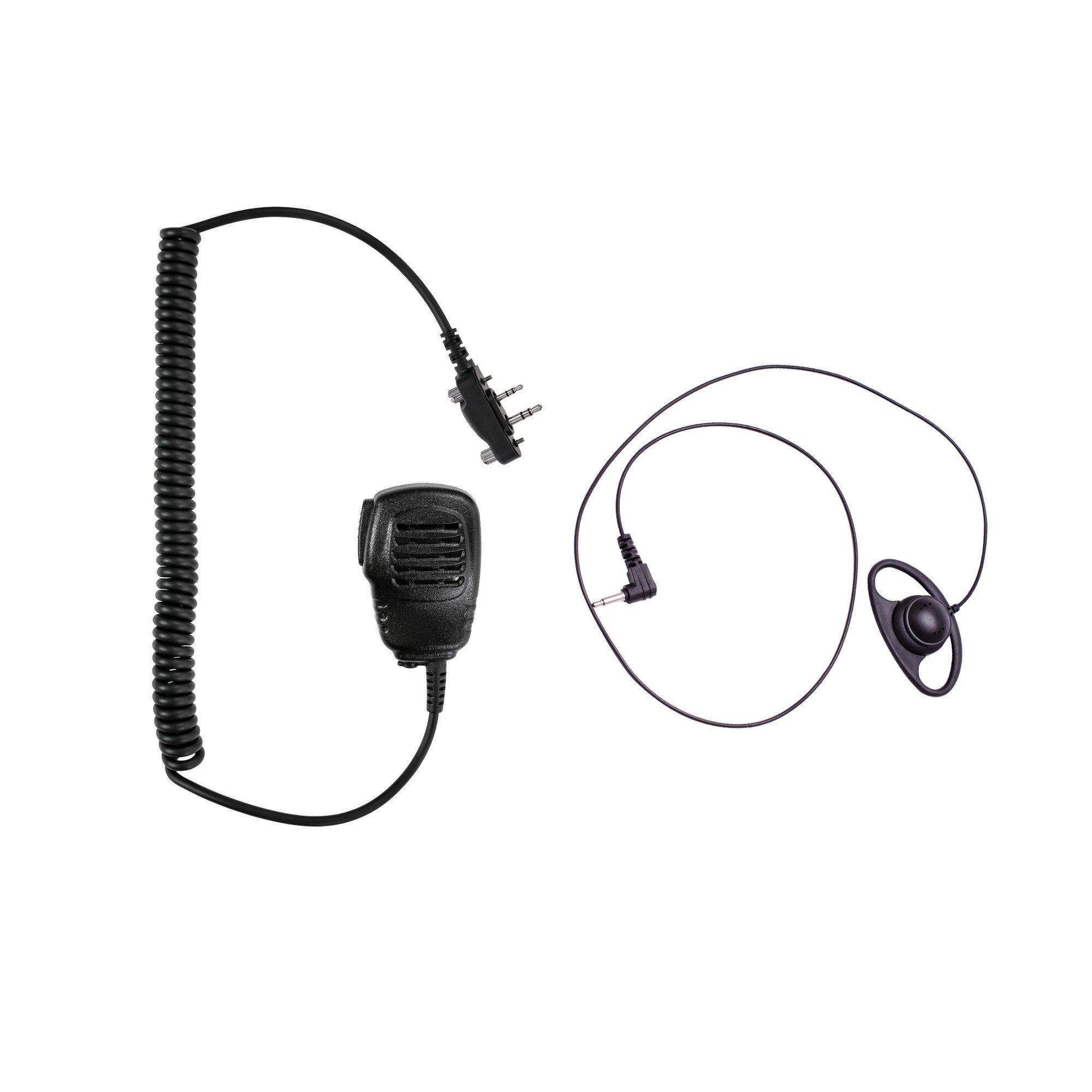 Maxtop APM100ARP07-I2 Light Duty Shoulder Speaker Microphone + D-Shape Listen Only Earpiece for ICOM
