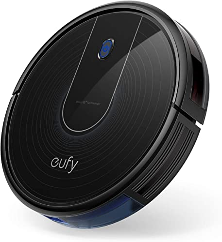 eufy BoostIQ RoboVac 11S Plus, Upgraded, Super-Thin, 1500Pa Strong Suction, Quiet, Self-Charging Robotic Vacuum Cleaner, Cleans Hard Floors to Medium-Pile Carpets, Black
