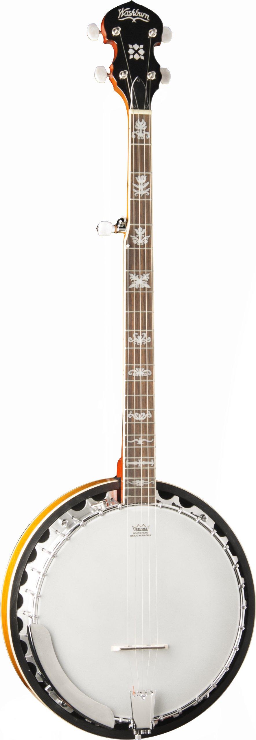 Washburn B10 5-String Banjo, Sunburst Gloss Finish by Washburn (Image #1)