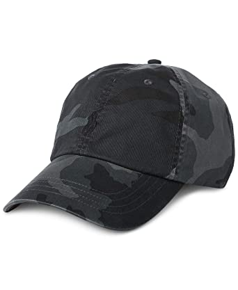 Polo Ralph Lauren Men`s Cotton Chino Baseball Cap (Grey Camo 765e8dc8c07