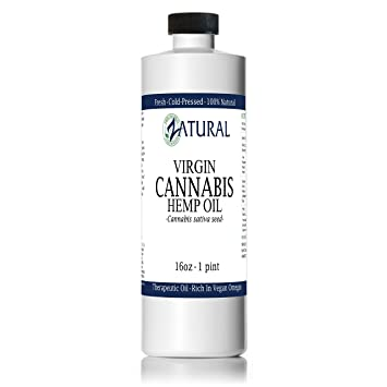 Hemp Oil Anti-Inflammatory_Pain Relief_100% Pure_Cold Pressed_High Vegan  Omegas 3 & 6_No Fillers