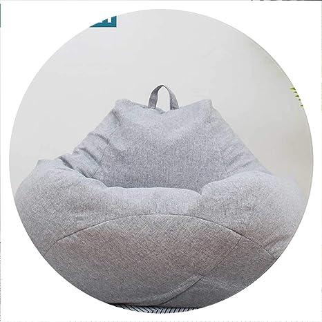 Amazon.com: mokasa Large Small Lazy BeanBag Sofas Cover ...