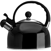 2.5 Liter Whistling Tea Kettle - Modern Stainless Steel Whistling Tea Pot for Stovetop with Cool Grip Ergonomic Handle…