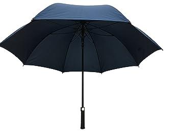 GB-130 - Paraguas de golf, color azul oscuro, ligero, negro,