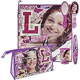Soy Luna Soy Set Neceser higiene Comedor Escuela, Color Lila, 23 cm (Artesanía