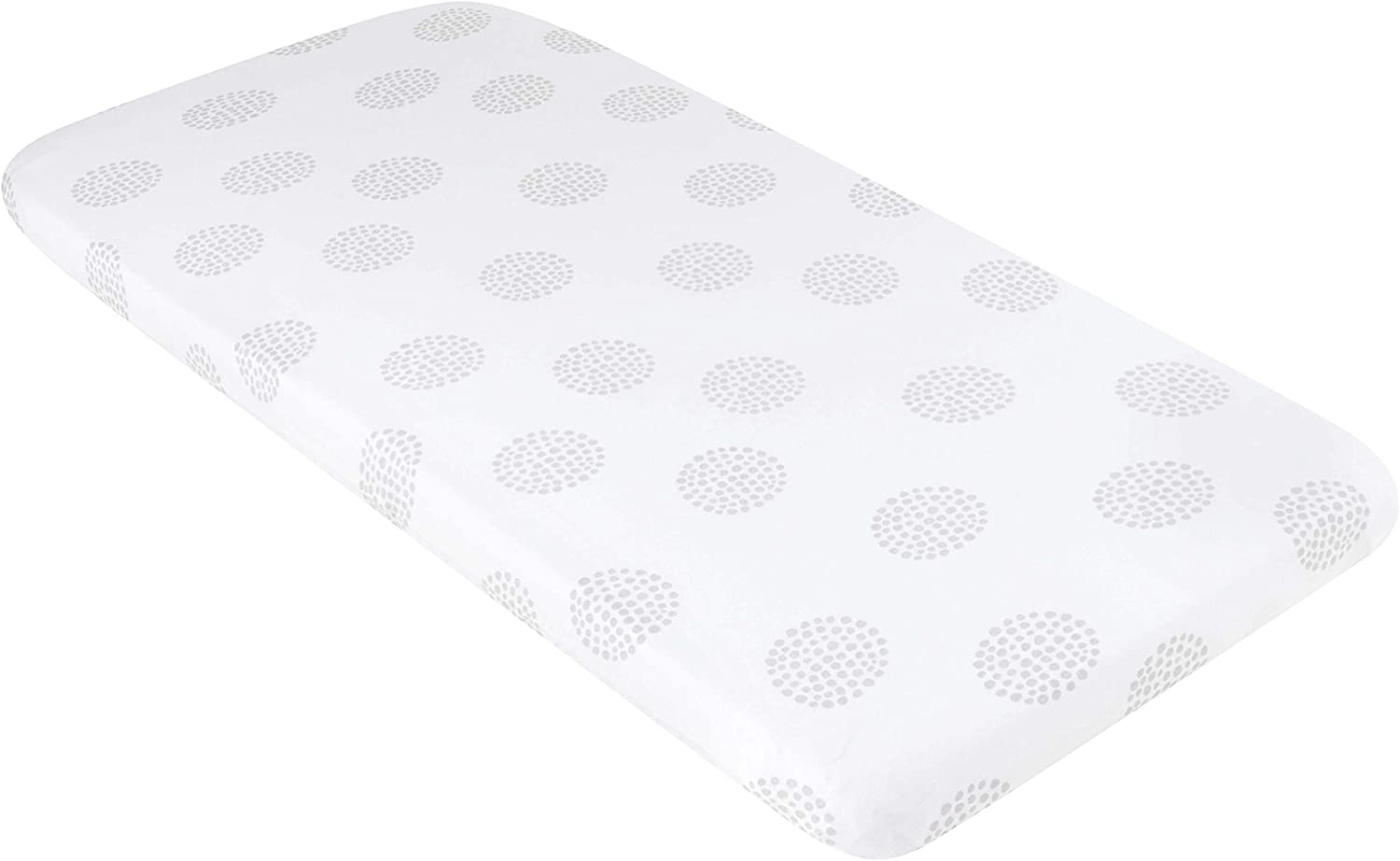 Grey and White Dottie Design Bassinet Sheet 100/% Jersey Cotton 2 Pack for Baby Girl and Baby Boy Elys /& Co