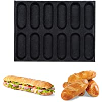 Baking Liners Mat Bread Mould Hot Dog Molds Houchu Silicone Baguette Pan Non-Stick Perforated Fench Bread Pan Forms