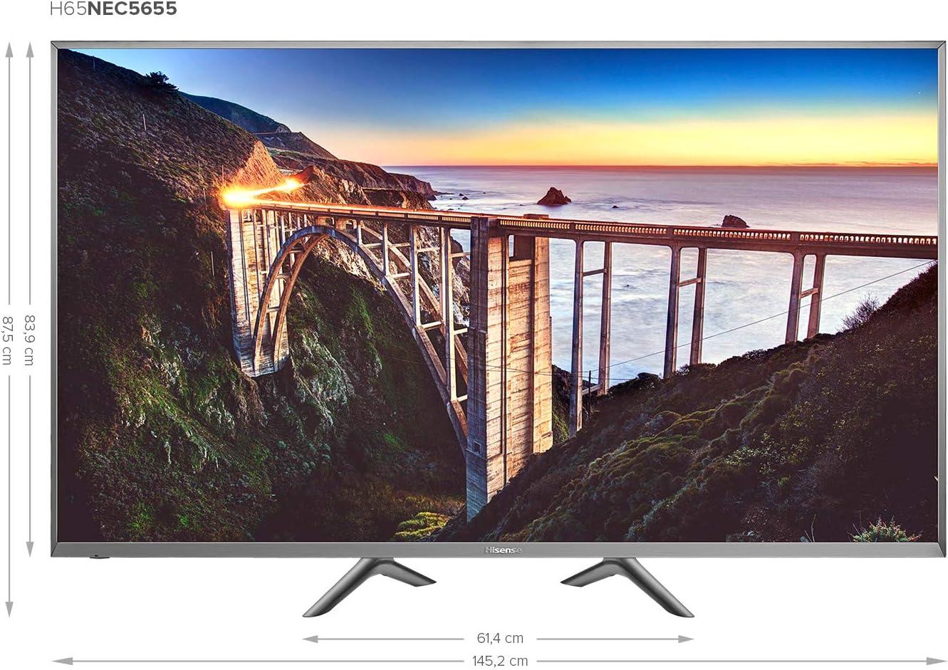 Hisense H65NEC5655 - Televisor (Ultra HD, sintonizador triple, Smart TV): Amazon.es: Electrónica