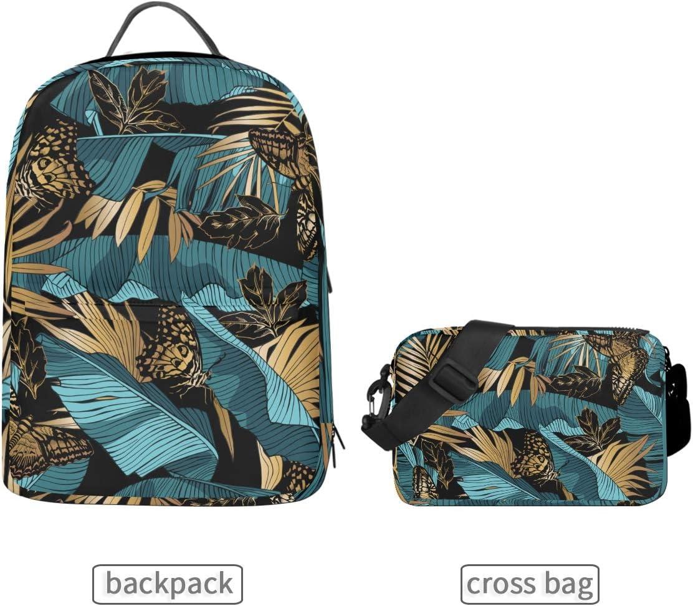 ALLMILL Seamless Pattern Box School Backpack