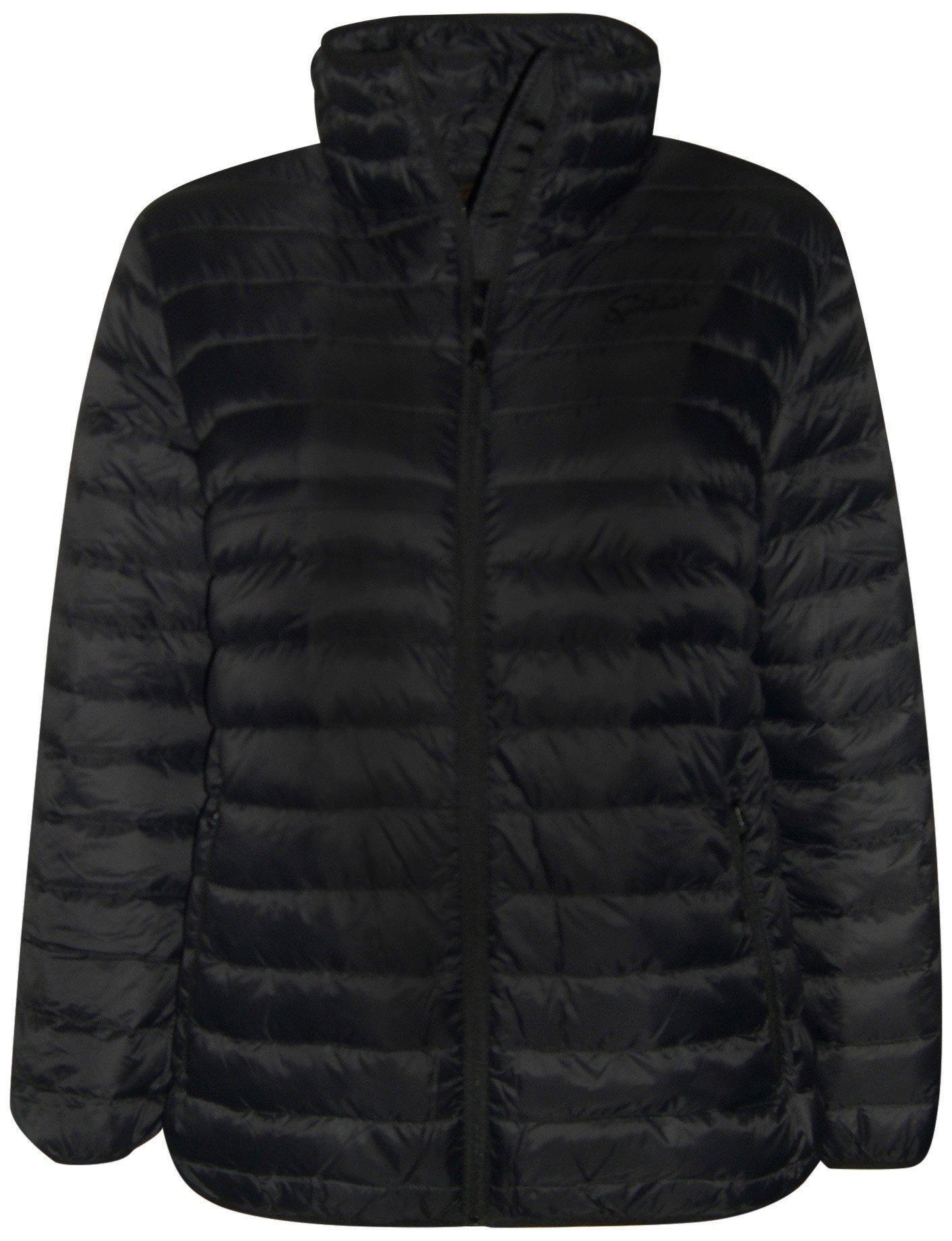Sportcaster Women's Pulse Plus Size Packable Down Jacket (1X, Black)