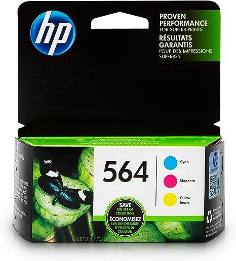 New 5 Pack Genuine HP564 Set Ink Cartridges Black Cyan Magenta Yellow
