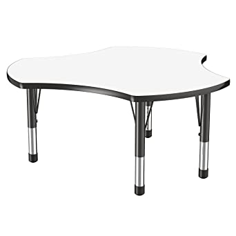 Merveilleux ECR4Kids 48u0026quot; Collaboration Cog Dry Erase Adjustable Activity Table,  Chunky Legs, 15