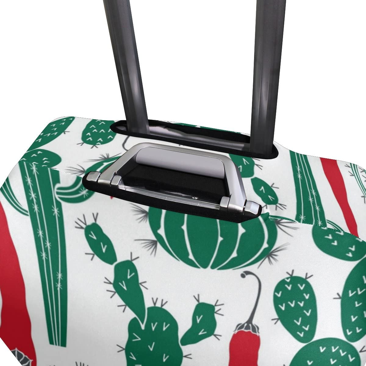Elastic Travel Luggage Cover Cactus Pepper Suitcase Protector for 18-20 Inch Luggage