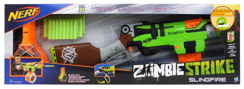Licensed High Qulity Nerf N-Strike ELITE Zombie Strike Slingfire Blaster  Toy Gun with 6