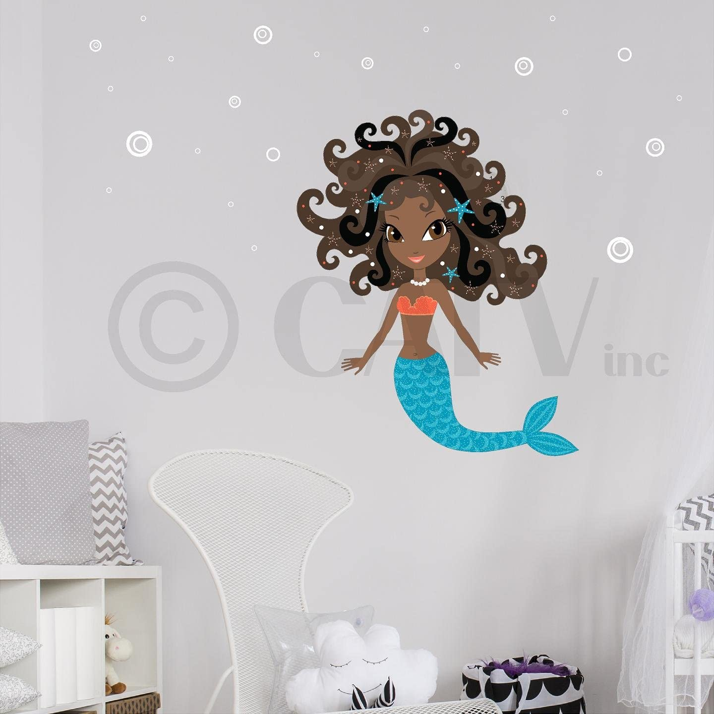 The Little Mermaid RoomMates Vinyl Wall Bedroom 43 Removable Decal Stickers