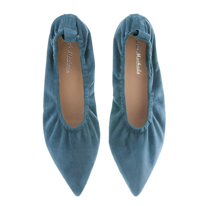 b30f819777a0 Frida.Andres Machado Elasticated Ballet Flats in Suede Leather.Small    Large Sizes  Amazon.co.uk  Shoes   Bags