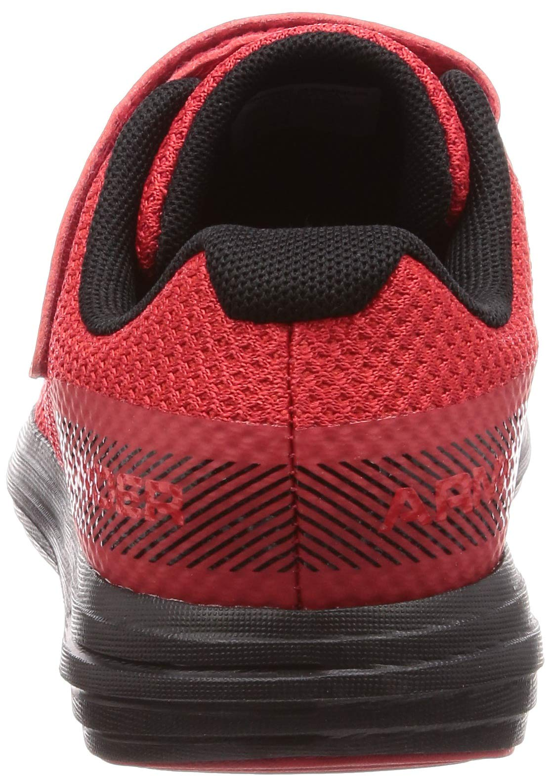 Under Armour Boys' Pre School Surge RN Alternate Closure Sneaker, Red (600)/Black, 3 by Under Armour (Image #2)