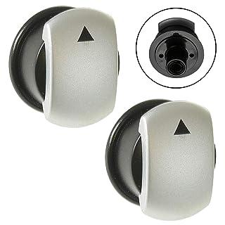 Spares2go - Botón de control de interruptor para horno de cocina (paquete de 2)