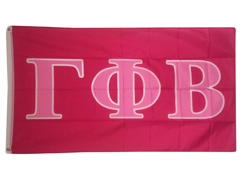 Gamma Phi Beta Dark Pink/Light Pink Letter Sorority Flag Greek Letter Use as a Banner Large 3 x 5 Feet