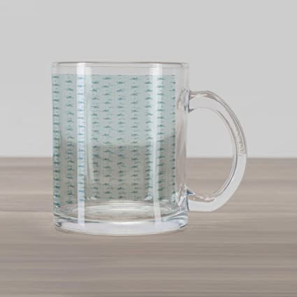 f816bcde2c9 Ambesonne Pastel Glass Mug, Forget Me Not Flowers and Vertical Striped Pale  Backdrop Spring Nature