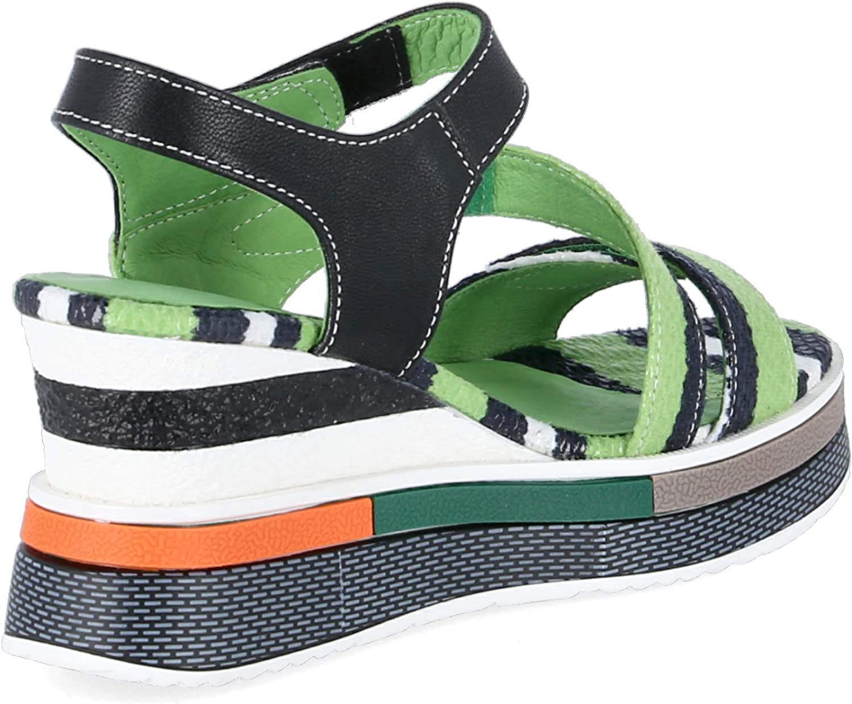 Laura Vita Dacddyo 272 Sandalias Fashion de Cuero Mujer Verde