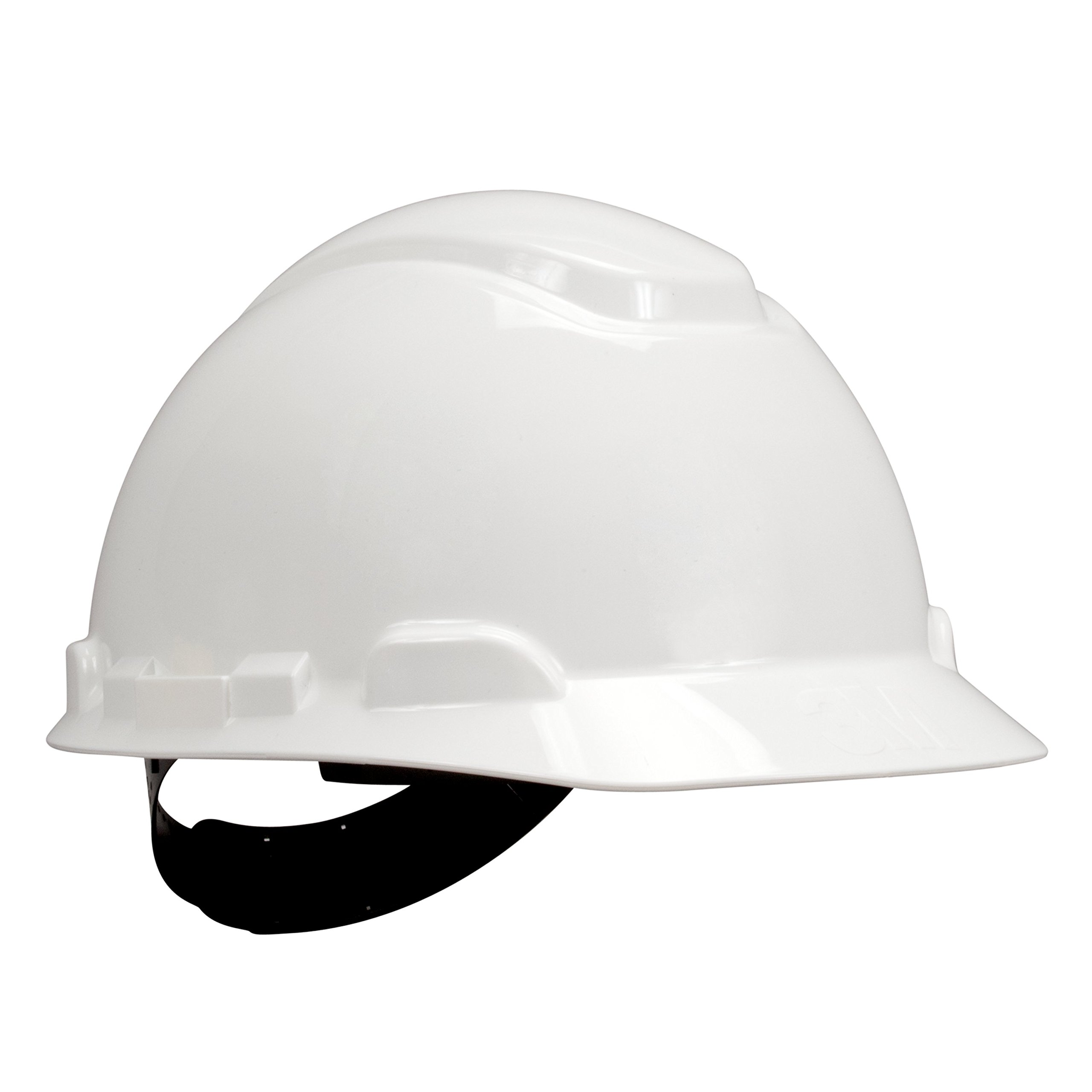 3M H-701P White Short Brim Hard Hat - 4-Point Suspension - Pin Lock Adjustment - Accessory Slots, Reversible Suspension - 70071577822 [20 EA PER CASE]