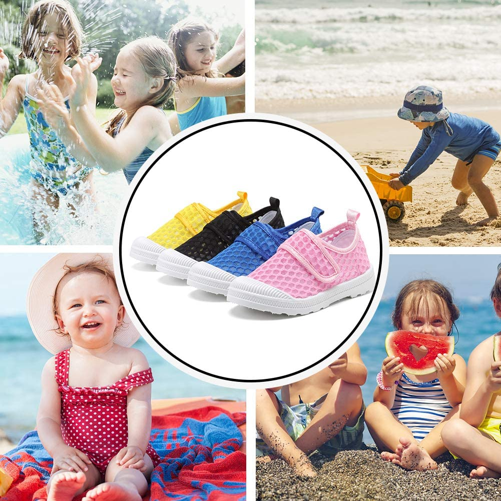 CIOR Boys /& Girls Breathable Mesh Slip-on Sneakers Sandals Water Shoe for Running Pool Beach Toddler//Kids