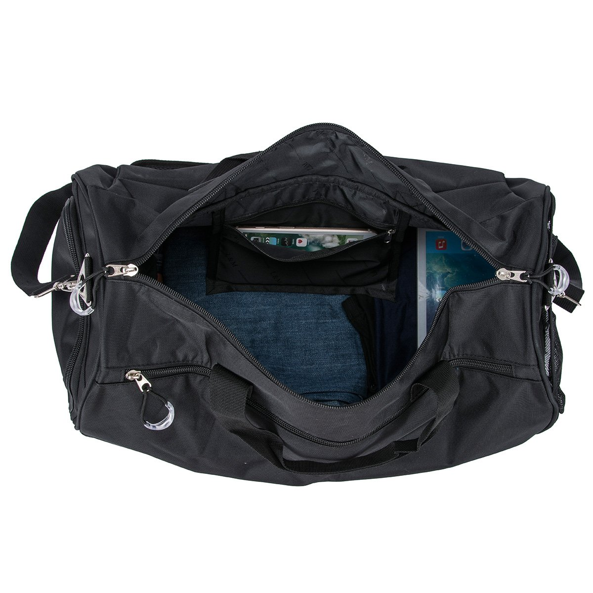 3915db0e6a0d Amazon.com  Kuston Sports Gym Bag with Shoes Compartment Travel Duffel Bag  for Men and Women  Sports   Outdoors