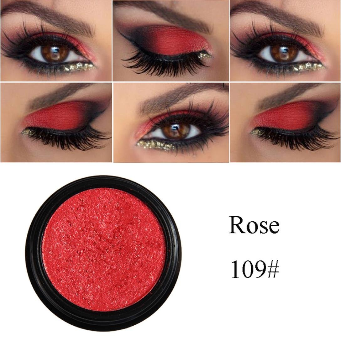 Amazon.com : Orangeskycn Eye Cosmetic Set Shimmer Glitter Long Lasting Colorful Eyeshadow Metallic Eye Shadow (I) : Beauty
