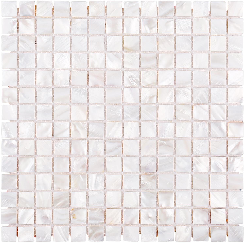 White Mother of Pearl Tile Shell Mosaic Tile For Kitchen Backsplash, Bathroom for Kitchen Backsplashes, Bathroom Walls, Spas, 12'' X 12''