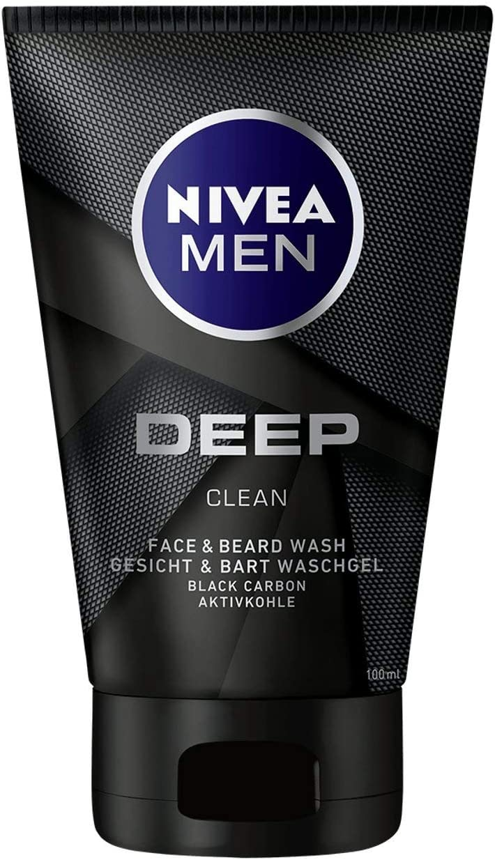 Nivea Men Deep Clean Cara y Barba Gel Limpiador, con Carbón ...