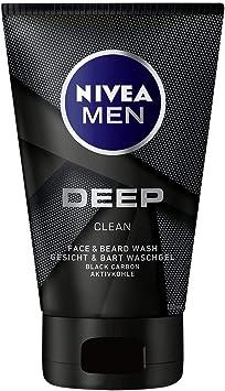 Nivea Men Deep Clean Cara y Barba Gel Limpiador, con Carbón ...