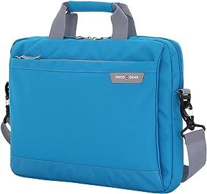 Swiss Gear Cross Body Laptop Sleeve Carrying Case, Blue