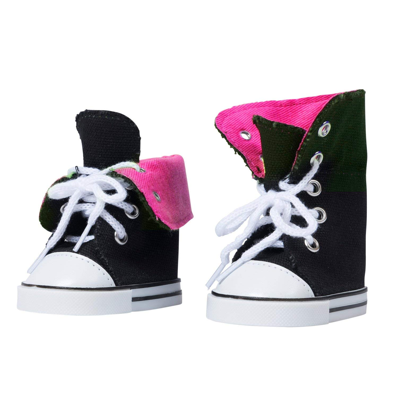 The New York Doll Collection Zapatillas Altas de Lona-Se Adapta a Todas Las mu/ñecas de 18 Pulgadas Zapatos de mu/ñeca de 18 Pulgadas