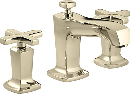 KOHLER K-16232-3-AF Margaux Widespread Lavatory Faucet, Vibrant French Gold