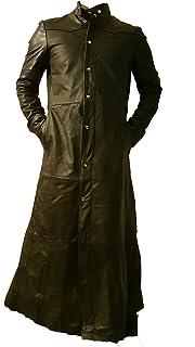 cb9491545e717 creazioniinpelle Chaqueta Abrigo de Cuero auténtico 100% Muy Suave de  Hombres gótico Matrix Trench cr20
