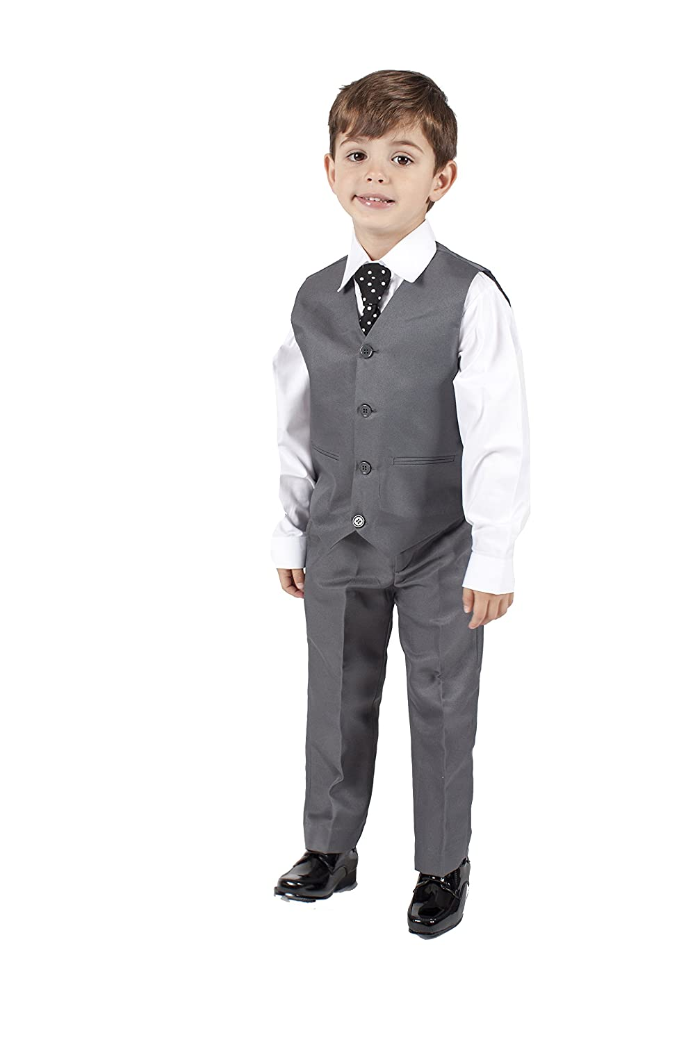 Vintage Style Children's Clothing: Girls, Boys, Baby, Toddler Boys Grey 4 Piece Waistcoat Suit £16.99 AT vintagedancer.com