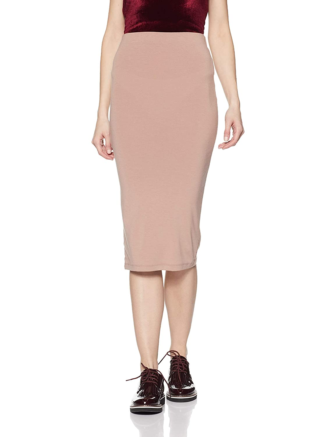 69de9d6095 Forever 21 Women's Polyester Bodycon Midi Knit Skirt (233787062, Walnut,  Small): Amazon.in: Clothing & Accessories
