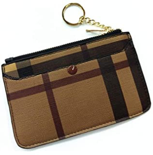 b4630f8c5332 Amazon.com: Miracle Checkered Zip Key Chain Pouch   Mini Coin Purse ...