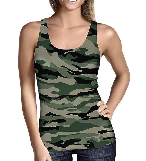 Of Tirantes Queen Mujer Militar Camuflaje Camiseta Para Cases De tdCxshQorB