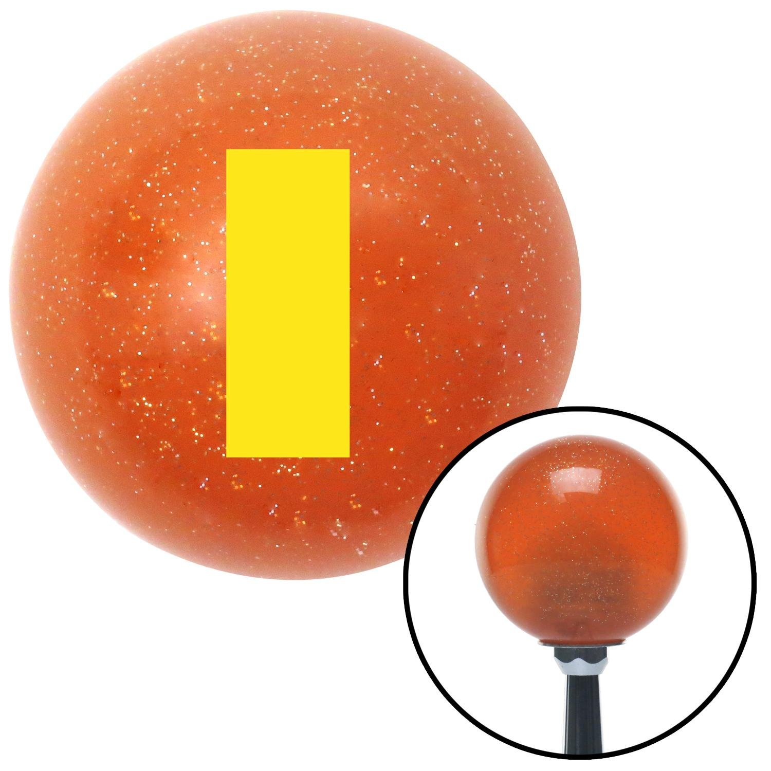 American Shifter 38482 Orange Metal Flake Shift Knob with 16mm x 1.5mm Insert Yellow Officer 01-2n Lt. and 1d Lt.
