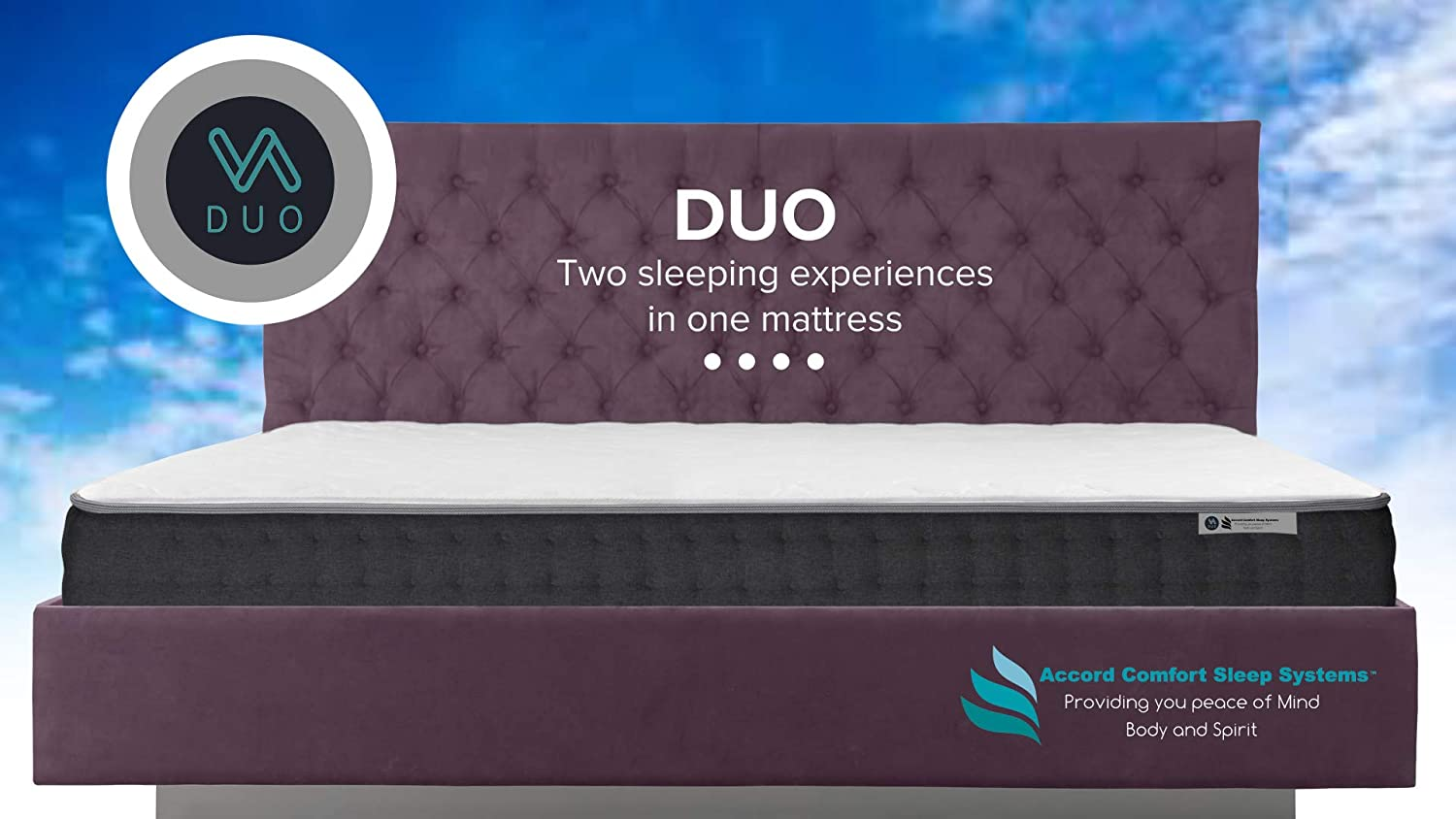 DUO Twin Double Sided Mattress 2 Beds in 1, Firm or Plush Outlast Cooling Fabic Full 10 Year Warranty, 60 Day Sleep Guarantee