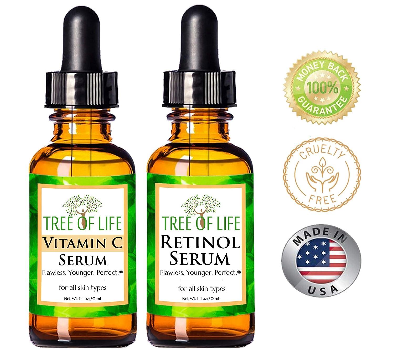 Serum Combo Pack  Vitamin C Serum Retinol Serum