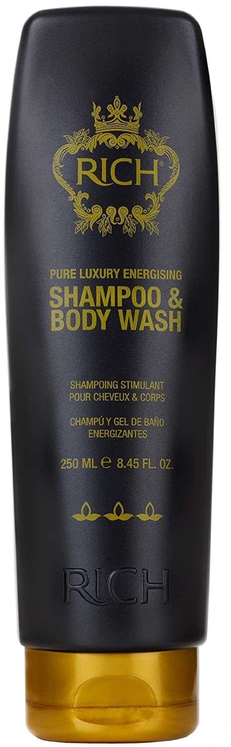 RICH Hair Care Pure Luxury Energizing Shampoo and Body Wash, 8.45 oz.